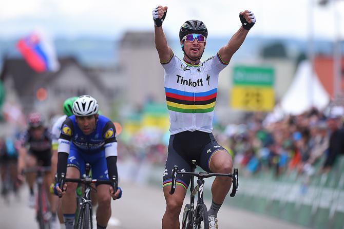 Петер Саган (Tinkoff) выйграл второй этап Тура Швейцарии 2016 (фото: Tim de Waele/TDWSport.com)