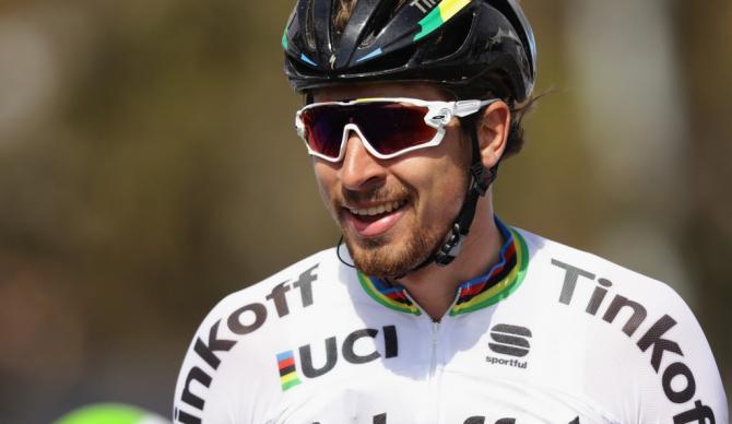 Улыбающийся Петер Саган после победы на этапе (фото: Getty Images Sport)