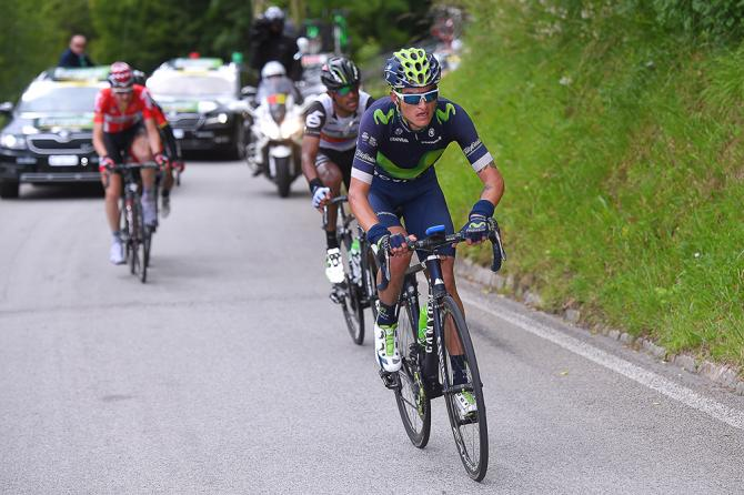 Winner Anacona attacks on the final climb during stage 5 at Tour de Suisse (фото: Tim de Waele/TDWSport.com)