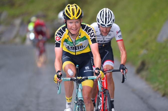 Wilco Kelderman (LottoNl-Jumbo) slipped out of the race lead (фото: Tim de Waele/TDWSport.com)
