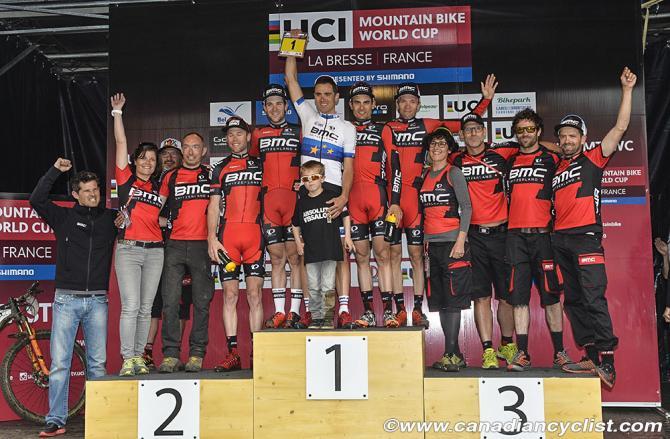 Команда BMC Mountainbike Racing Team занимает первое место в топе (фото: Robert Jones)