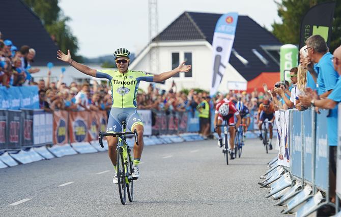 Михаэль Вальгрен (Tinkoff) побеждает на 3 этапе (фото: Getty Images Sport)