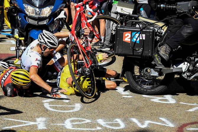 Крис Фрум (Team Sky), авария на Mont Ventoux (фото: Getty Images Sport)