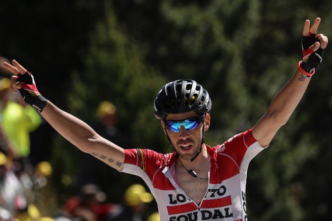 Томас Де Гендт первый на 12 этапе (фото: Getty Images Sport)