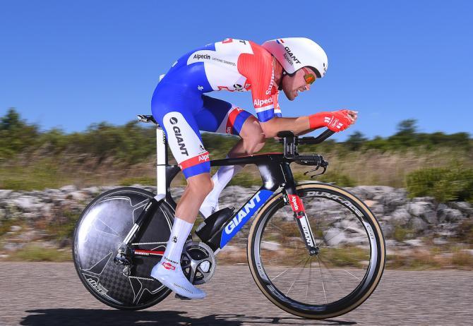 Том Дюмулен победитель 13 этапа, во время гонки на время (фото: Tim de Waele/TDWSport.com)