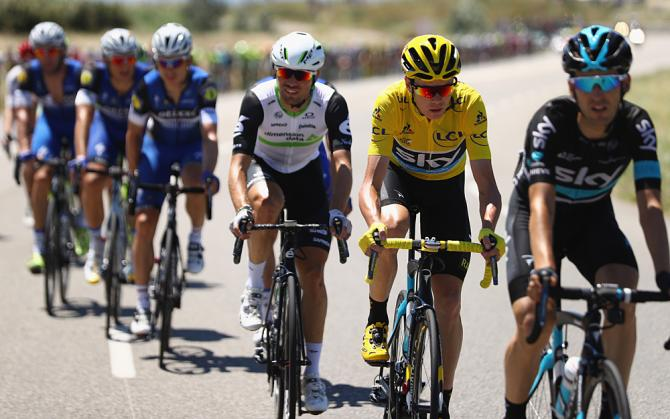 Mark Cavendish (Dimension Data) и Chris Froome (Team Sky) (фото: Getty Images Sport)