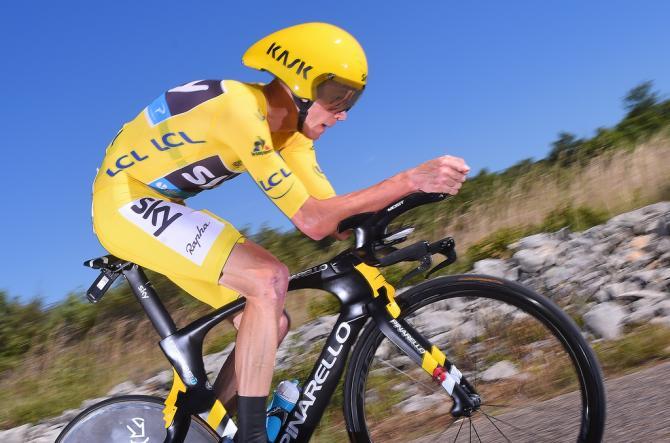 Крис Фрум (Team Sky) победил в гонке на время с раздельным стартом (фото: Tim de Waele/TDWSport.com)