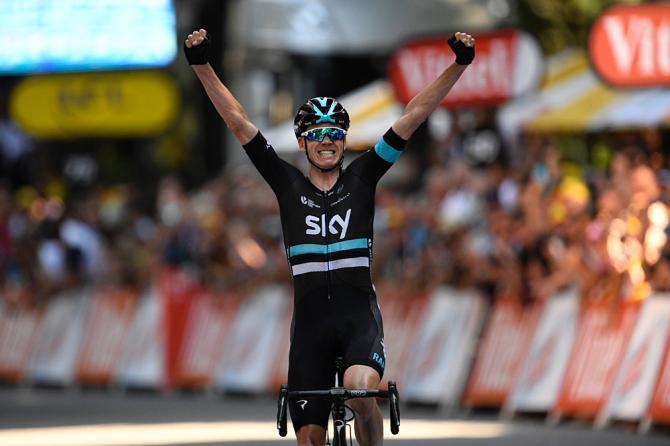 Крис Фрум после своей внезапной атаки на спуске в Люшон (фото: Getty Images Sport)