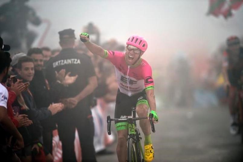 Уверенная победа канадского гонщика Вудса на 17-ом этапе Вуэльты
