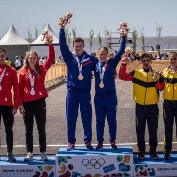 Варвара Овчинникова и Илья Бескровный выиграли золотую медаль в BMX-рейсе на юношеских Олимпийских играх-2018