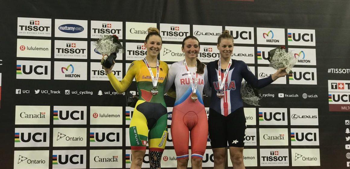 Кубок мира, Милтон (Канада): Александра Гончарова победила в скретче, Анастасия Войнова и Дарья Шмелева выиграли бронзу в командном спринте