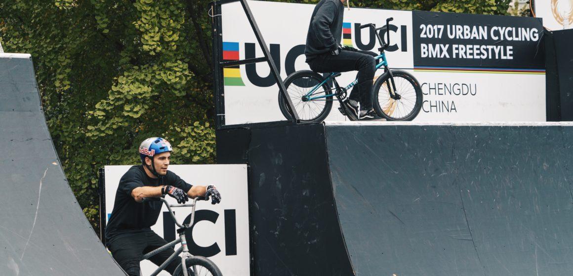 На заключительном этапе Кубка мира по BMX-фристайлу Елизавета Посадских заняла 10-е место, Ирек Ризаев — 11-е