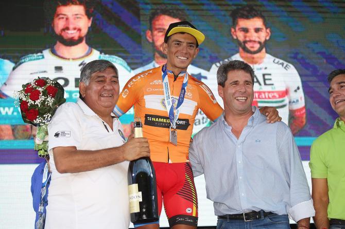 Горный король Вуэльты Сан-Хуана Даниэль Самора временно отстранен от гонок