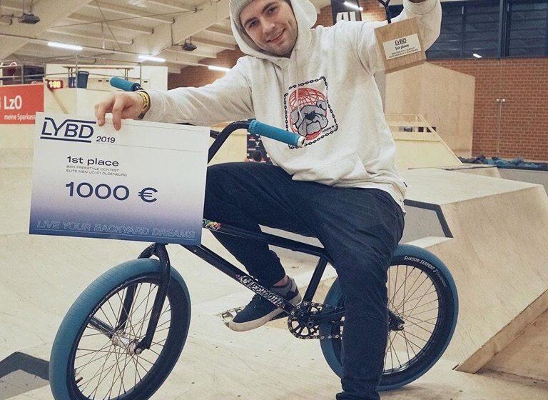 Победа Кости Андреева на международных соревнования по BMX Freestyle