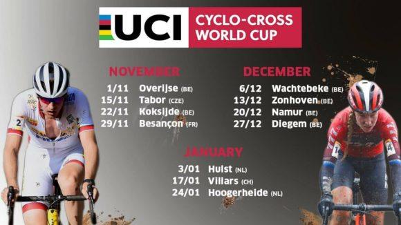 Обновленный календарь Кубка мира UCI по велокроссу