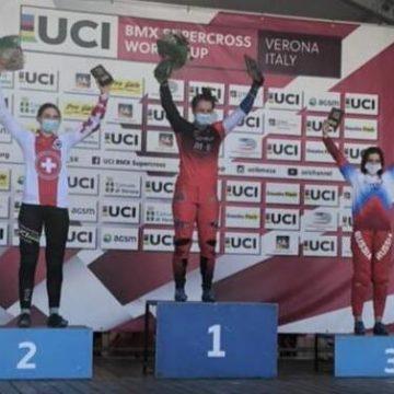 Наталья Афремова стала 3-й на этапе Кубка мира по BMX-суперкроссу в Вероне!