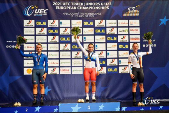 Алина Моисеева — чемпионка Европы в гонке на выбывание среди юниорок